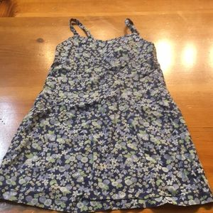 🍁5/$10 old navy little girl blue flower dress